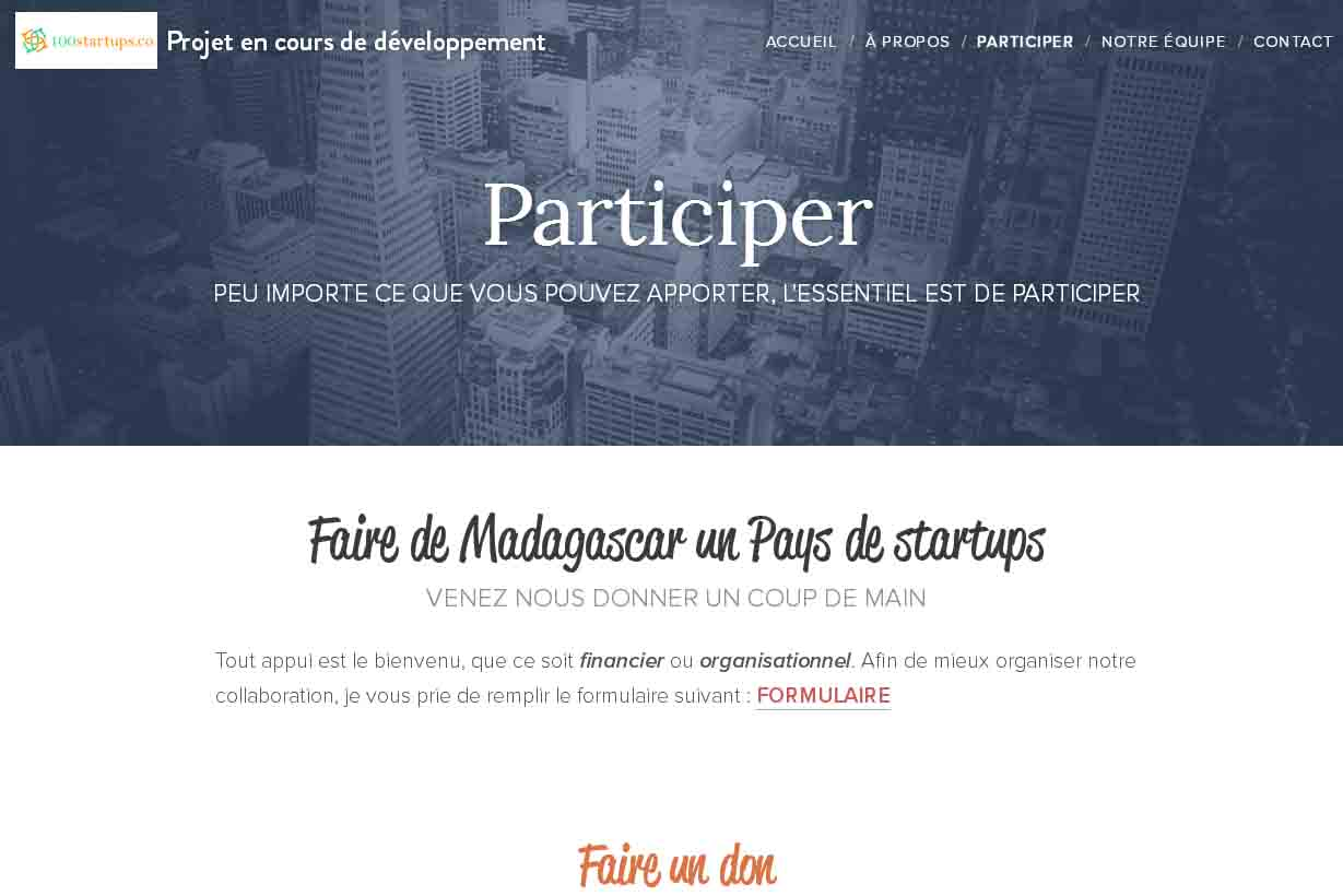 100startups.co veut financer 100 startups Malgaches
