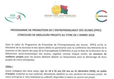 Appel à candidature du concours de projet MJS